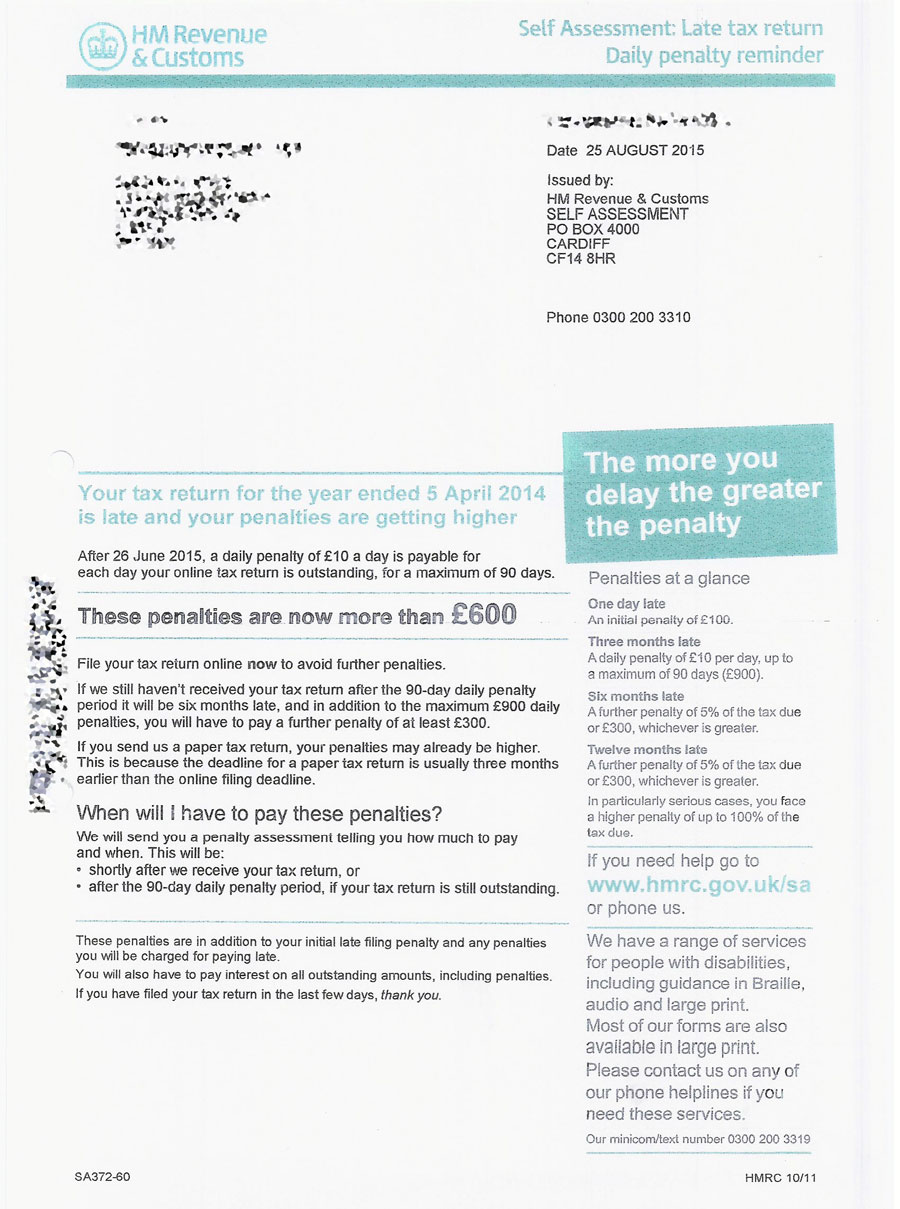 A reader ends hmrc investigation with a single letter tax hell penalty letter from hmrc spiritdancerdesigns Images